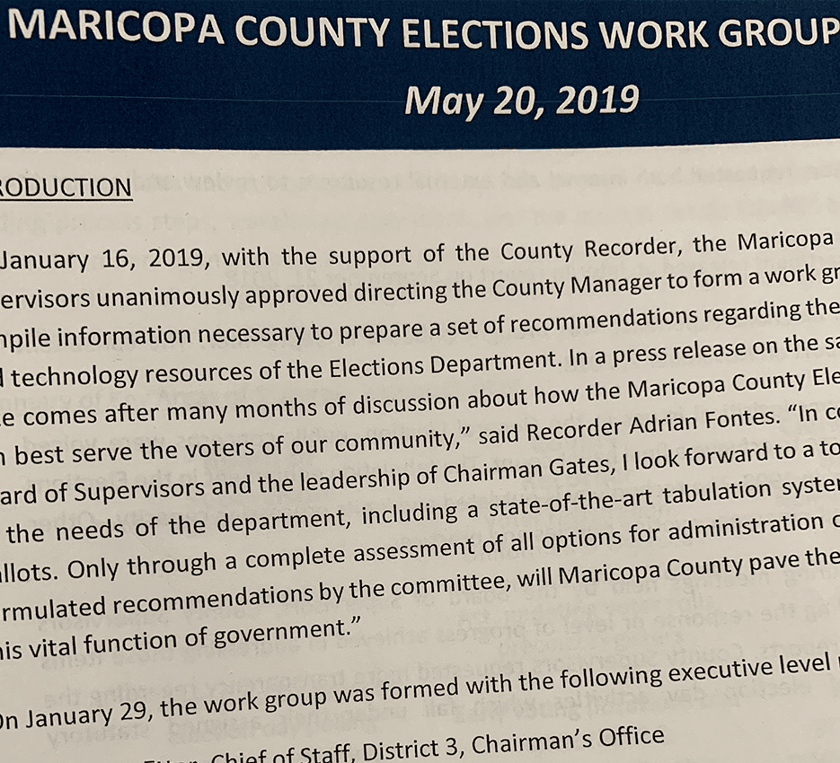 election working group report